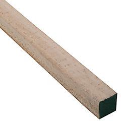 2x2''x3,2 m Pino dimensionado verde