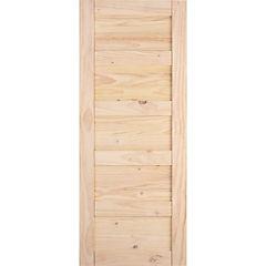 Puerta amadeuss 5 tableros natural 200x85