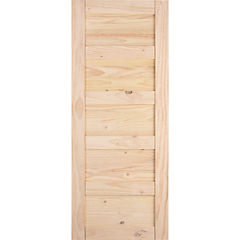 Puerta amadeuss 5 tableros natural 200x80