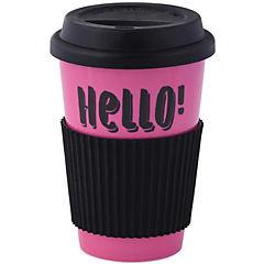 Mug rosado con tapa de silicona