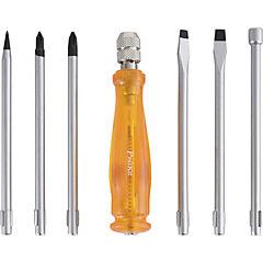Atornillador reversible con diferentes puntas