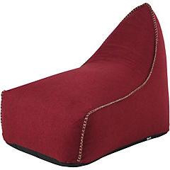 Sofá lounge 70x135x90 cm y pouf 52x40x33 cm rojo