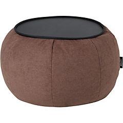 Mesa pouf 82x82x42 cm café