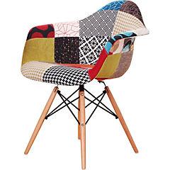 Silla 60x62x80 cm patchwork multicolor