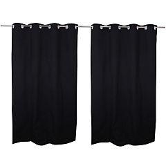 Cortina tela 140x220cm Twill negro