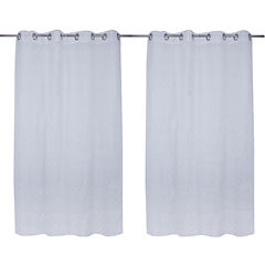 Cortina burnout blanca 140x220 cm