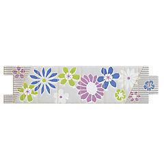 Listel flecha porcelánica 6.5x25 cm primavera azul/lila/verde