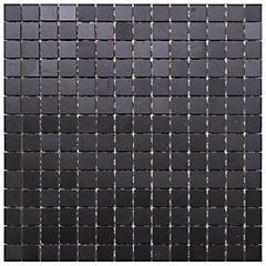 Malla marmol vidrio  30x30 cm negro