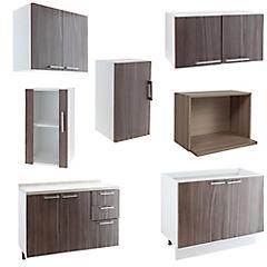 Proyecto Muebles de Cocina Ravena, 7 Módulos, Ancho Total 205 cm.