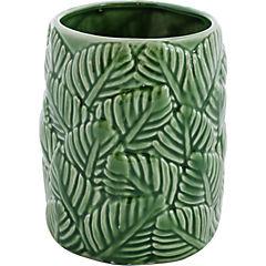 Florero ceramica hojas 15 cm