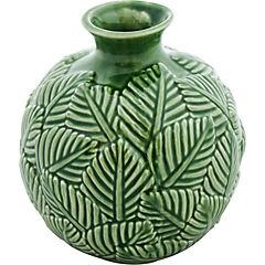 Florero ceramica hojas 16,5 cm