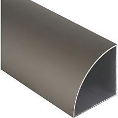 Esquinero Aluminio 66x66x1 mm Titanio  3 m