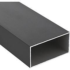Tubular Aluminio 100x50x1,5 mm Bronce  3 m