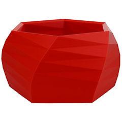 Macetero Geométrico 13 cm 3D rojo