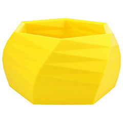 Macetero Geométrico 13 cm 3D amarillo