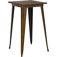 Mesa bar metal madera envejecido