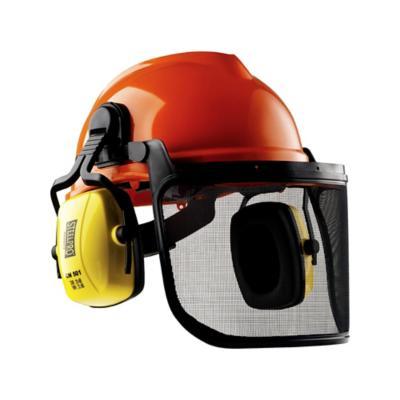 Protección facial casco forestal con red para sensores de motor nuevo