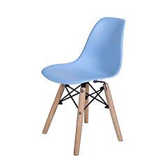Set de 2 sillas kids celeste 36x30x32 cm