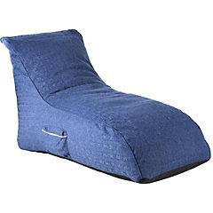 Sillón pouf 90x60x140 cm azul
