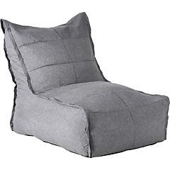 Sillón pouf 80x65x95 cm tela gris