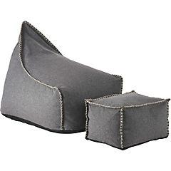 Sillón pouf 90x70x75 cm y apoya pies