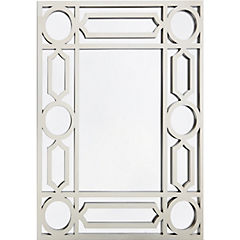 Espejo rectangular decorativo 75x60 cm plata