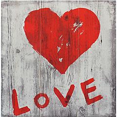 Pintura en madera Love I 30x30 cm