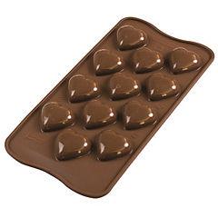 Molde chocolate corazón 3D