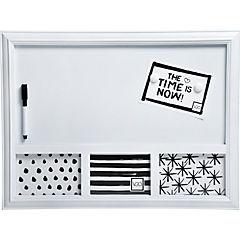 Pizarra 53x39 cm blanca con 3 marcos