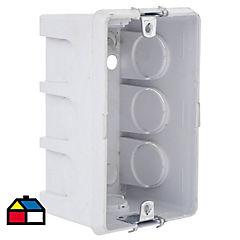 Caja de distribución embutida 94x68,5 mm PVC