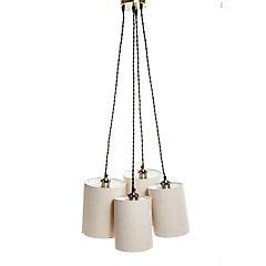 Lámpara de colgar Racimo bronce 4 luces E27 40W