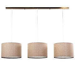 Lámpara de colgar 3 luces 30 cm bronce E27 40W