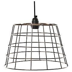 Lámpara de colgar Canasto cobre E27 40W
