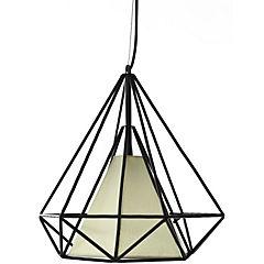 Lámpara de colgar Diamante negra E27 40W