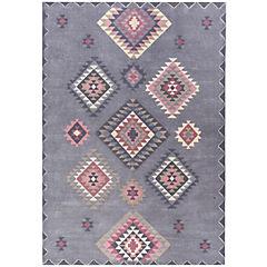 Alfombra Kelim etnic 160x230 cm gris