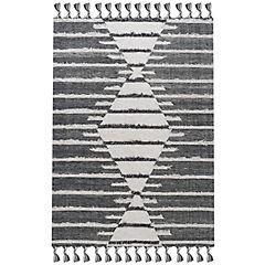 Alfombra handwoven nepal 160x230 cm negra