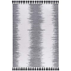 Alfombra handwoven ikat 160x230 cm negro