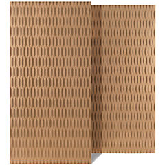 15 mm x 1,22x2,44 m Panel MDF Relieve Listones pack 2 unidades