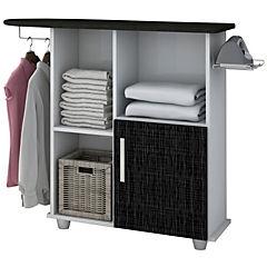 Mueble planchar 85x1,06x30 cm blanco y negro