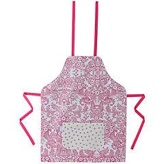 Delantal de hule diseño chic rosado niño