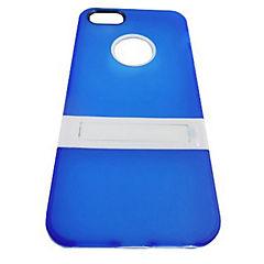 Carcasa con soporte iPhone 5 y 5s azul