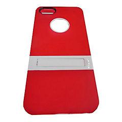 Carcasa con soporte iPhone 5 y 5s rojo