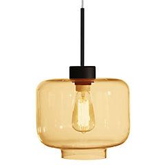 Lámpara colgante 60 W ámbar