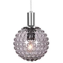 Lámpara colgante 40 W vidrio ahumado