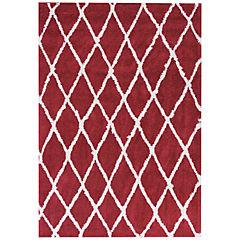 Alfombra Jacinta Rombos 60x120 cm rojo