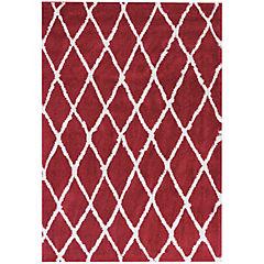 Alfombra Jacinta Rombos 133x190 cm rojo