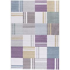 Alfombra Pastel cuadrados II 133x190 cm multicolor