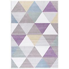 Alfombra Pastel triángulos I 133x190 cm multicolor