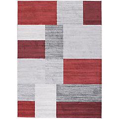 Alfombra Kurt Rectángulos 133x190 cm rojo