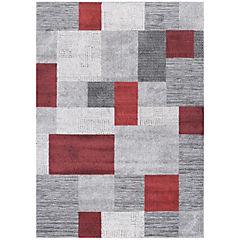 Alfombra Kurt Cuadrados 160x230 cm rojo